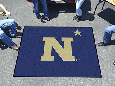 Fanmats Sports Team Logo US Naval Academy Tailgater Rug 60