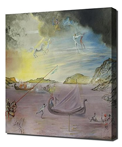 Salvador Dali Las Galas De Port Lligat Framed Canvas Art Print Reproduction