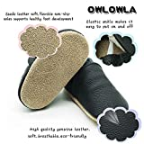 Owlowla Baby Crib Shoes Soft Soled Leather Non-Slip Baby Infant Toddler Pre-Walker Shoes Boys