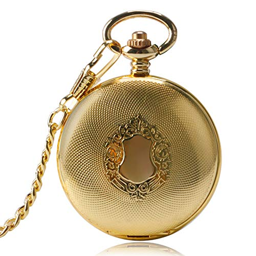 Luxury Pocket Watch, Exquisite Golden Royal Shield Pocket Watch for Men, Automatic Mechanical Pocket Watch Gift - Ahmedy Pocket Watch ()