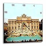 3dRose LLC Trevi Fountain Italy Wall Clock, 10 by 10-Inch