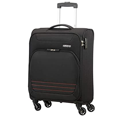 TROLLEY CABINA AMERICAN TOURISTER BOMBAY BEACH ONYX BLACK 55-20 SPINNER: Amazon.es: Equipaje
