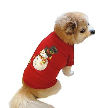 8238451d30a7a LOVELYOU Tenue Vêtements d animal Compagnie Costume Père Noël Sweat-Shirt  Halloween Habillement Chat