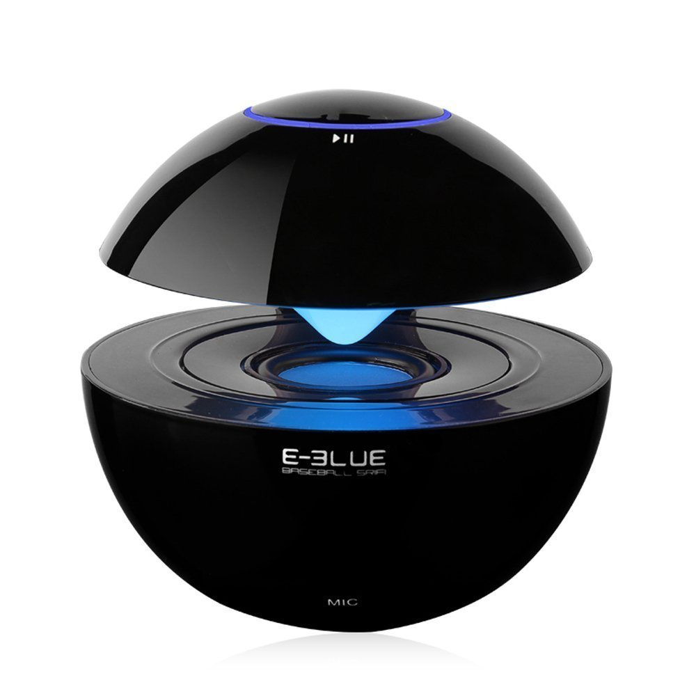 E-3LUE bluetooth speakers with Handsfree Speakerphone,LED lights Built-in Mic and 3.5mm Line-In ,Portable mini wireless speaker for Smartphones, Tablets, Computers, Laptops,Cell Phones,Black