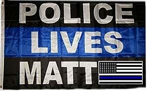Al por mayor Combo 3x 5bandera de policía vida tema y Estados Unidos Memorial Policía adhesivo resistente a la decoloración doble cosido Premium calidad