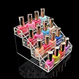 1-Pc Heavenly Popular Hot Nails Polish Organizer Travel Case Acrylic Gift Fashion Art Grids Color Transparent 4 Tier Style #07