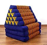 Asia Wohnstudio 3 Fold With Extra Large Triangle Cushion, 100% Natural Kapok Filling, Xxl Jumbo Thai Pillow, Headrest (Thai Cushion Triangle)