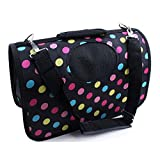 OpetHome Dog Paws Pet Medium Carrier Breathable Bed for Dog & Cat Purple Color Point L