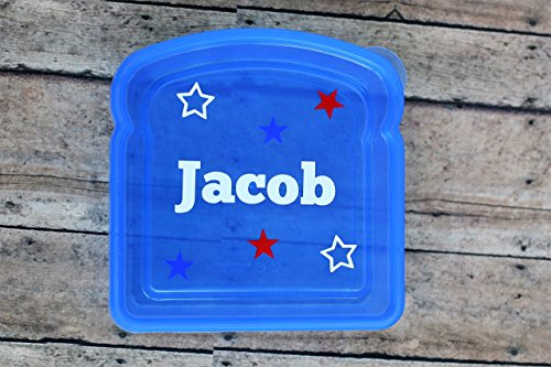 All-Star Blue Personalized Sandwich Box