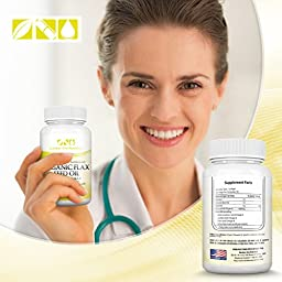 Number One Nutrition Organic, Non-GMO Flaxseed Oil, Supports Heart Health and Immune System Naturally, 1000 mg, 90 Softgel Capsules