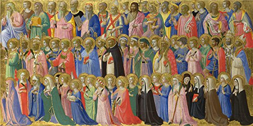 Oil Painting 'Fra Angelico - The Forerunners Of Christ With Saints, Martyrs,about 1423-4' 20 x 40 inch / 51 x 102 cm , on High Definition HD canvas prints, Basement, Home Office, Home Theater decor