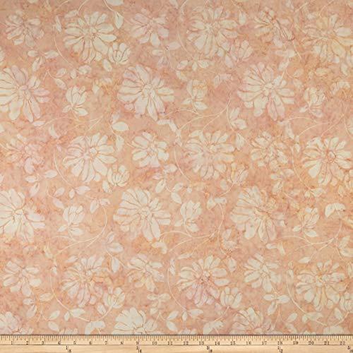 Timeless Treasures Tonga Batik Lush Floral Scroll Fabric, Blush, Fabric By The ()