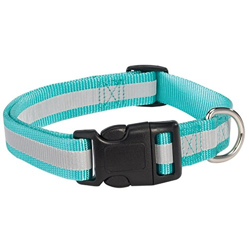 "Guardian Gear Reflective Dog Collar, Fits Necks 6"" to 10"", Blue"