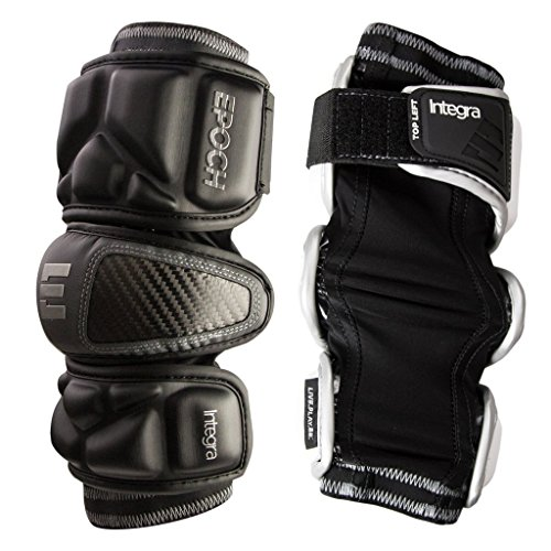 Epoch Lacrosse Integra Arm Pads for Attackmen and Middie (Medium) (Black)