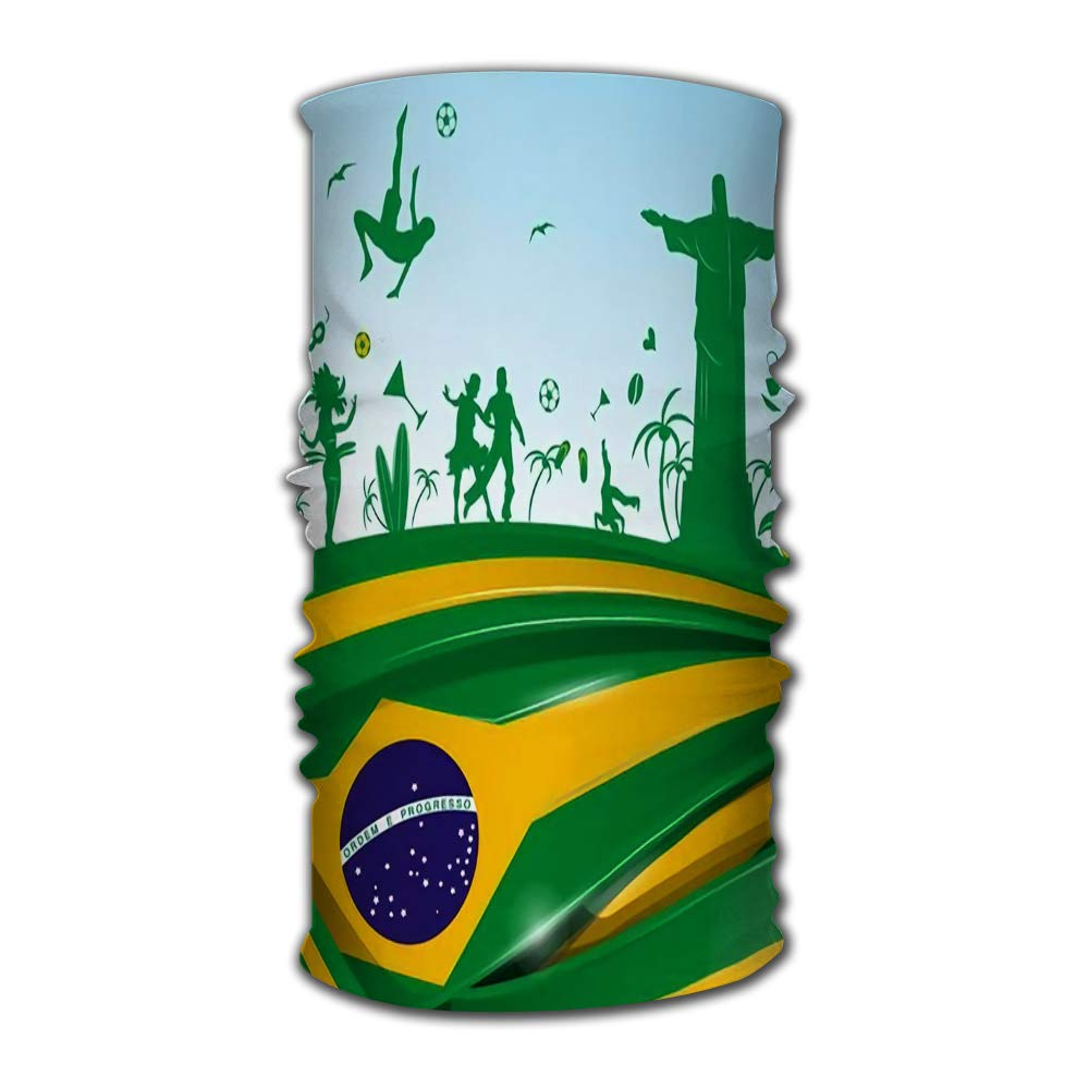 Headwear Bandanas Wrap Scarf Headscarf Brazil Flag and Symbol Set