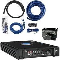 Planet Audio AC3000.1D 3000W Monoblock Class D Car Amplifier + 1/0 Gauge Amp Kit