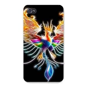 meilinF000Apple Iphone Custom Case 5c White Plastic Snap on - Phoenix Greek Mythology Bird on Fire ColorfulmeilinF000