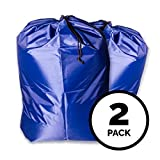 "(2 pack) - 30""x40"" Extra Large Polyester Laundry Bag - Sturdy, Durable, Heavy Duty, Locking Drawstring Closure, Water Resistant, Easy to Carry - Apartments, Travel, College Dorm, Vacation, Laundromat"