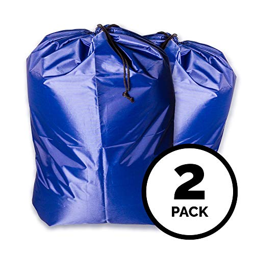 """(2 pack) - 30""""x40"""" Extra Large Polyester Laundry Bag - Sturdy, Durable, Heavy Duty, Locking Drawstring Closure, Water Resistant, Easy to Carry - Apartments, Travel, College Dorm, Vacation, Laundromat by Centzon"""