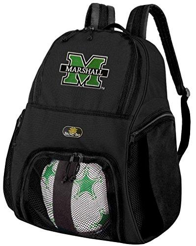 マーシャル大学サッカーバックパックまたはマーシャルバレーボールバッグ