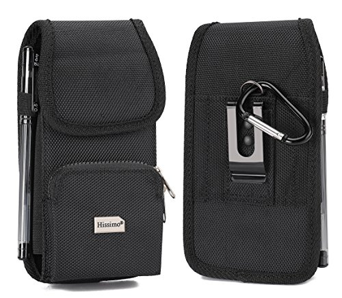 for iPhone 8 Plus/7 Plus/6s Plus/6 Plus Holster Phone Holder Wallet Case with Belt Clip Zipper Storage and Credit Card Pocket for Samsung Galaxy S9 Plus/S9/S8 Plus/S8 by HISSIMO