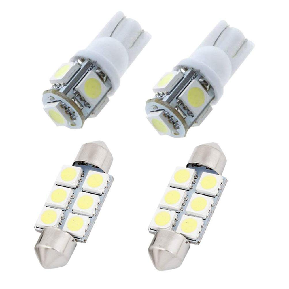 4Pcs Bianco Car Interior Light per Carens Luci targa Lampade Mappa LED Lettura Bulbi Maiqiken