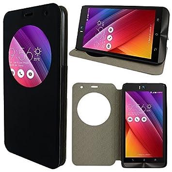 VCOMPR Etui Housse Coque View Case Flip Folio Leather Cover Pour ASUS Zenfone Selfie ZD551KL