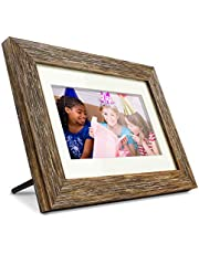 """Aluratek 7"""" Distressed Wood Digital Photo Frame with Auto Slideshow Feature, 1024 x 600, 16:9 (ADPFD07F)"""