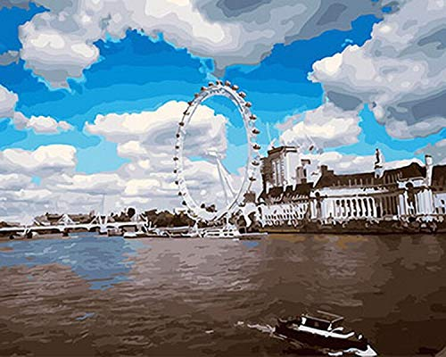 JXFFF 30x40cm Marco de Fotos de impresion 3D sin Marco Pintura al oleo Cuadro de la Puesta del Sol Pintura al oleo