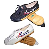 Tiger Claw Feiyue Martial Arts Shoes - White/Black