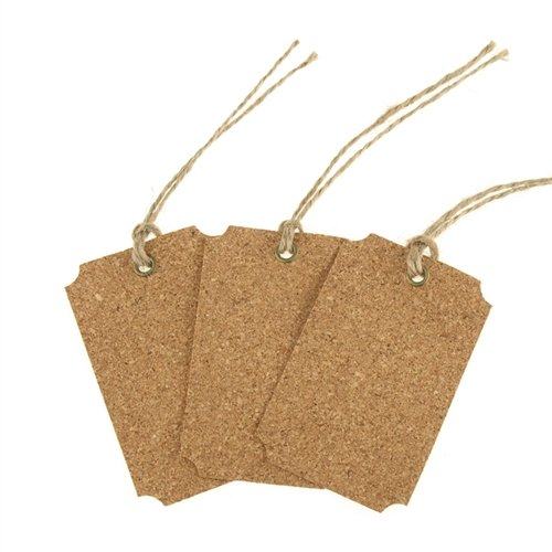 Homeford Firefly Imports Hanging Cork Tags, Rectangle, 3-Inch, 3-Pack 3