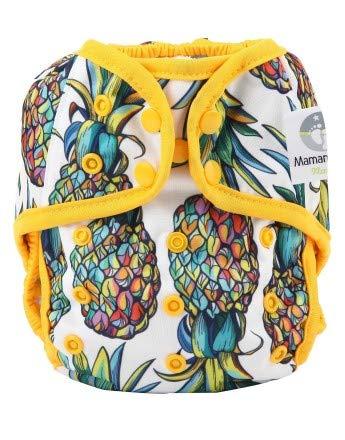 Maman et bb Nature - Couche Lavable tout en deux TE2 Culotte imperméable à pression - Exotic Ananas