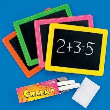 Amazon.com: Fun Express 12-29 Plastic Neon Chalkboard Sets: Toys ...