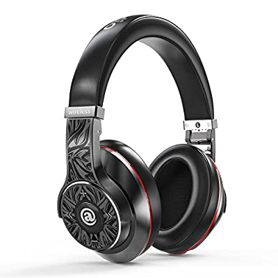 Aladdinaudio Acura Pro Noise Cancelling Hi-fi Metal Headsets with Heavy Bass Great Sounding Bluetooth CSR 4.0 NFC Wireless Folding Over-Ear DJ Headphones with Microphone for iPad/iPhone (Black)