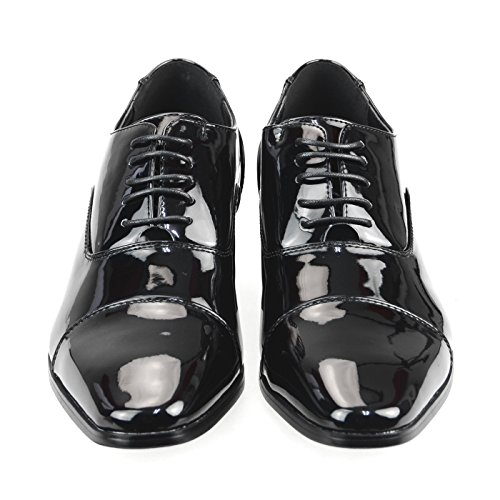 Mm / En Mens Skor Slipon Finskor Oxford Laceup Skor Present Skor Svart Mörk Brun Vit Yompt111-1blackel