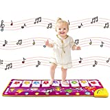 M SANMERSEN Piano Mat, Musical Dance Mat Keyboard Playmat Electronic Music Playmat Carpet Blanket for Kids Toys for 3-6 Year Old Girls 3 4 5 6 Year Old Girl Gifts