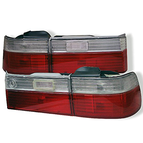 For 90-91 Honda Accord Sedan CB7 Red Clear Lens 4PCS Tail Brake light lamp Set