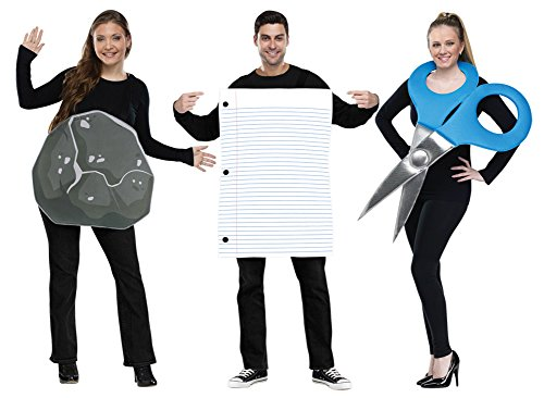 MyPartyShirt Rock Paper Scissors Costume -