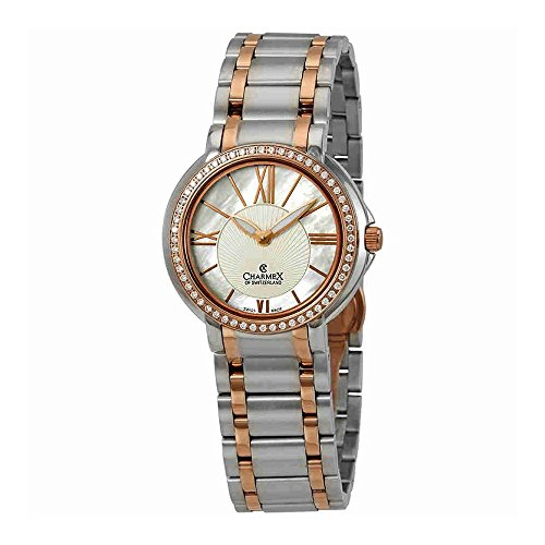 Charmex Crystal White Mother of Pearl Dial Ladies Watch 6425