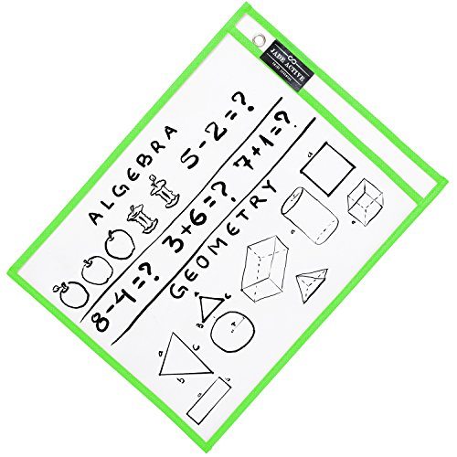Dry Erase Pockets - Reusable + Oversized - Size 10 X 13 Inches - 30 Pockets for Adults and Children - Mixed Colors - Ideal to use at School or at Work Photo #5