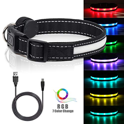 LED Safety Dog Collar Rechargeable