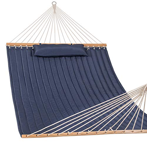 Lazy Daze Hammocks Quilted Fabric Hammock with Pillow for Tw