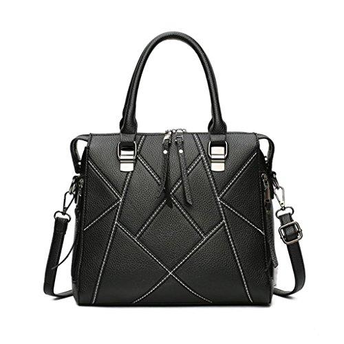 NVBAO Il sacchetto di spalla della borsa della borsa dell'unità di elaborazione della borsa dell'unità di elaborazione della borsa della borsa lavorano cinque colori, red bean paste black