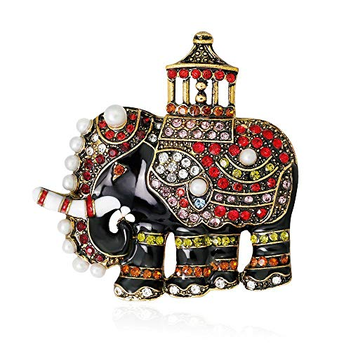 DTZH Brooches Jewelry pins Elegant Temperament Brooch Alloy Rhinestone high-end brooch vintage exquisite elephant brooch ()