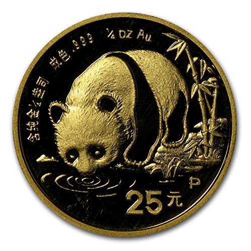 1987 CN China 1/4 oz Gold Panda Proof (In Capsule) (1/4) About Uncirculated