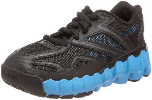Reebok Mini Zig Sonic Running Shoe (Toddler),Black/Malibu Blue,5 M US Toddler (Reebok Mini)