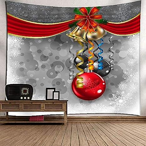 XYL HOME Tapiz de Navidad Lienzo decoración del hogar Pintura de Fondo Pared Toalla de Playa Estera de Yoga decoración del Hotel de Picnic, patrón de Color ...