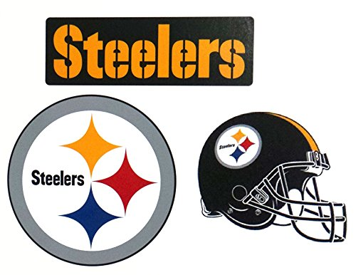 Cheap  FATHEAD Pittsburgh Steelers Team Set of 3 Official NFL Vinyl Wall Graphics..