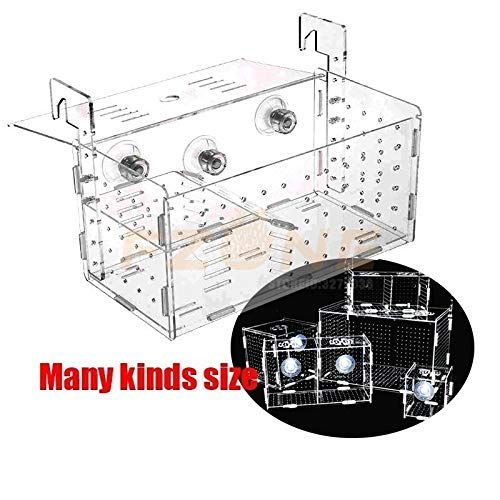 Xisoixi Aquarium Acrylic Fish Tank Breeding Isolation Box with Rooms for Baby Fish (Color : 1.5mm Round Hook, Size : 40x20x20cm 4)