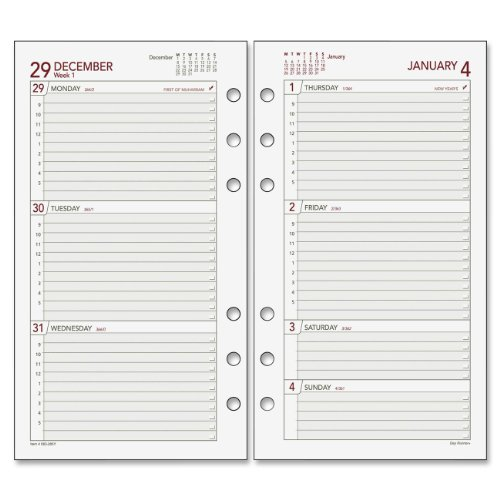 (Day Runner 2014 Weekly Planner Refill, 3.75 x 6.75 Inches)